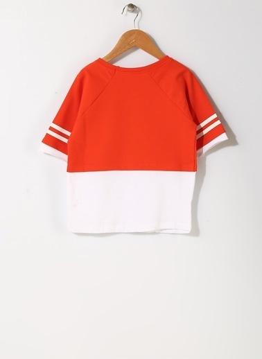 Pink&Orange Sweatshirt Kırmızı